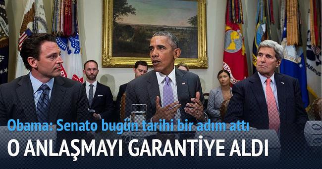 Obama anlaşmayı garantiye aldı