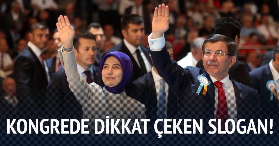 AK Parti kongresinde dikkat çeken slogan