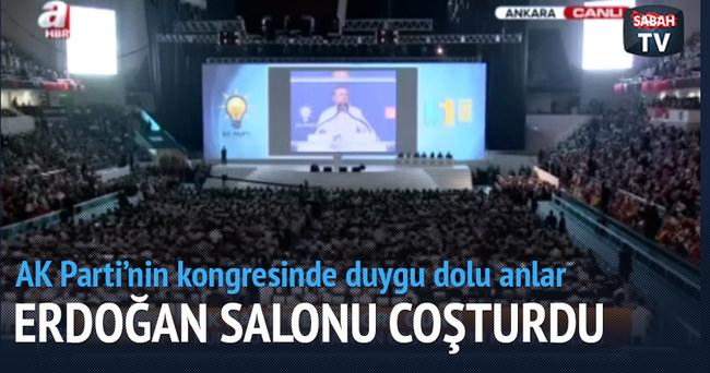 Erdoğan'ın sesisnden şiir salonu coşturdu