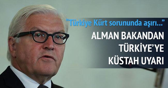 ALMAN BAKANDAN TÜRKİYE'YE KÜSTAH UYARI