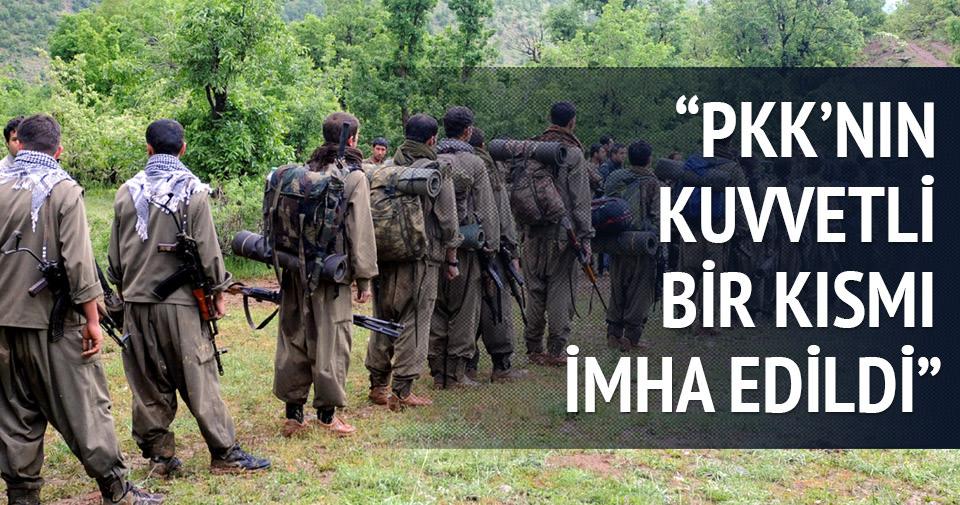 'PKK'nın dağ kadrosunun kuvvetli bir kısmı imha edildi'