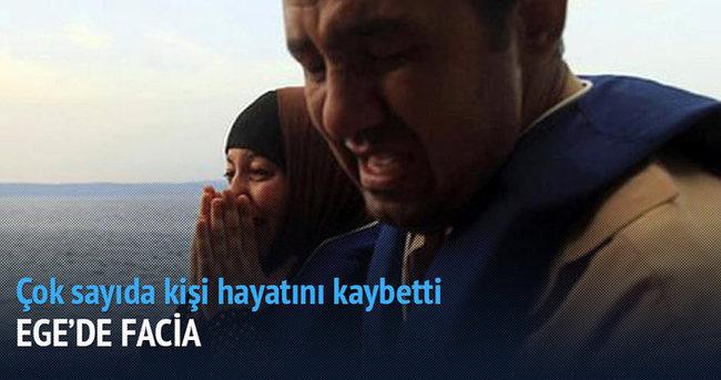 Ege'de kaçak teknesi battı: 1'i çocuk 28 ölü