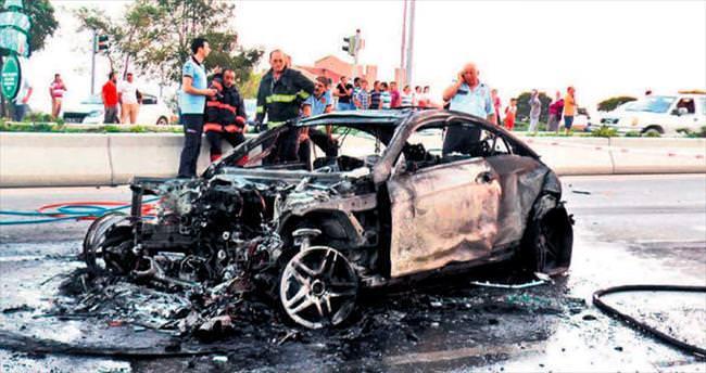 İncek'te feci kaza: 1 ölü, 8 yaralı