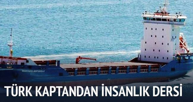 Suriyeli göçmenleri Türk kaptan kurtardı