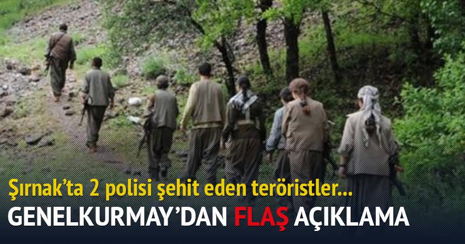Şırnak'ta iki polisi şehit eden beş terörist öldürüldü