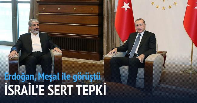 Erdoğan, Hamas siyasi büro şefi Meşal ile görüştü