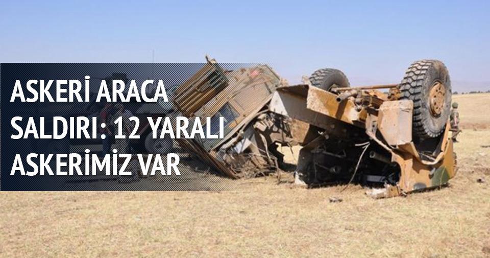 Muş'ta askeri araca saldırı 12 yaralı