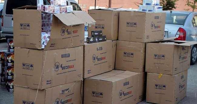 Yozgat'ta 96 bin paket kaçak sigara ele geçirildi