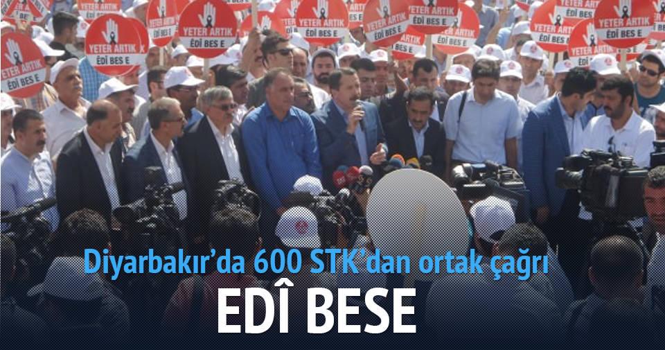 600 STK'dan Diyarbakır'da çağrı: Silah bırak PKK!