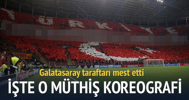 Galatasaray'dan müthiş koreografi