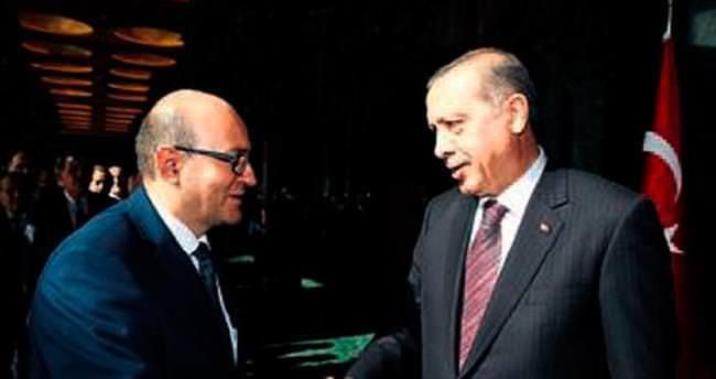 Rektör Korkmaz Erdoğan'la görüştü