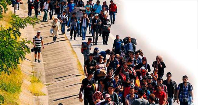 Edirne'ye büyük mülteci yürüyüşü