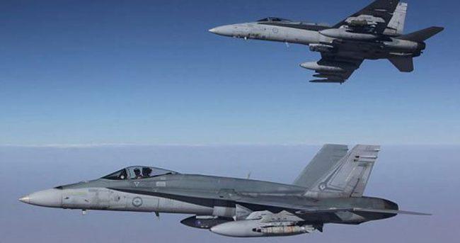 Avustralya ilk kez Suriye'deki IŞİD hedeflerini vurdu
