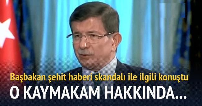 Başbakan Davutoğlu skandal hakkında konuştu