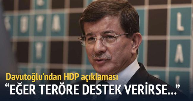 Başbakan Ahmet Davutoğlu'dan HDP açıklaması