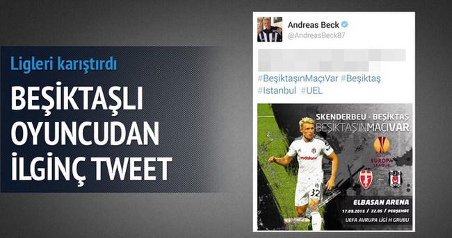 Beşiktaşlı oyuncudan ilginç tweet