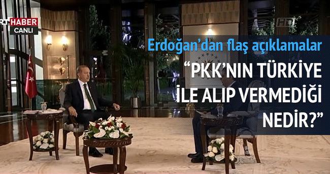 Erdoğan TRT'de soruları yanıtladı