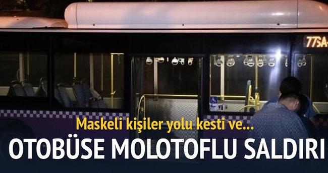 Kasımpaşa'da otobüse molotoflu saldırı!