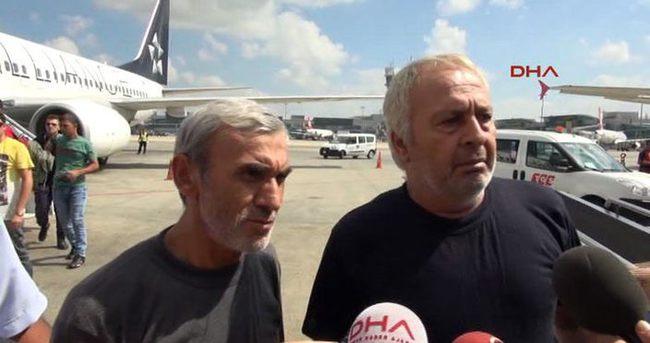Serbest bırakılan iki işçi Türkiye'de