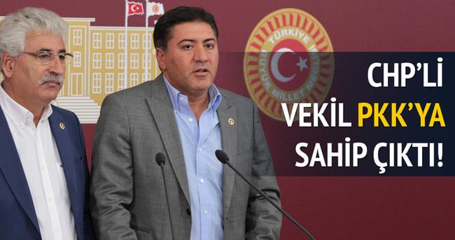CHP'li vekil PKK'ya sahip çıktı!