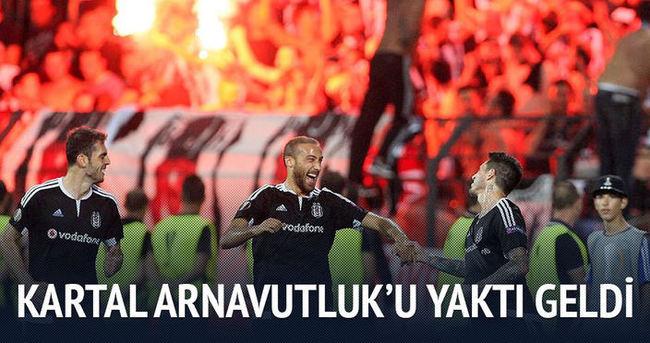 Beşiktaş Arnavutluk'u yaktı geldi