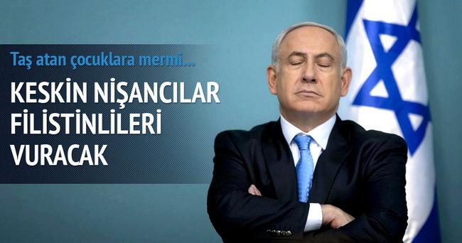 İsrail taş atanları silahla vuracak