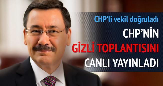 Gökçek CHP'nin gizli toplantısından canlı yayın yaptı