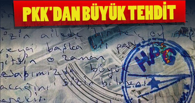 PKK'dan büyük tehdit