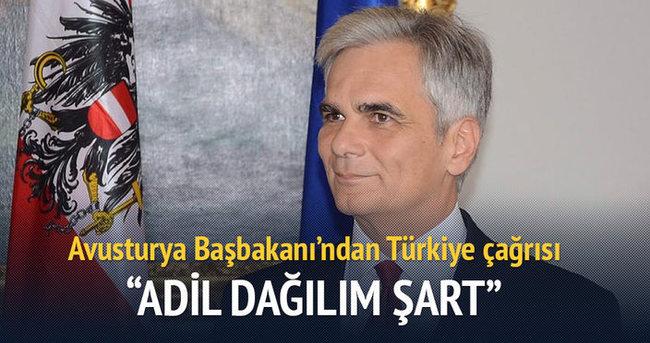 Avusturya Başbakanı'ndan Türkiye çağrısı