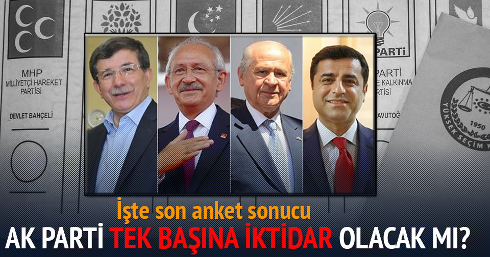 AK Parti tek başına iktidar, işte son anket sonuçları