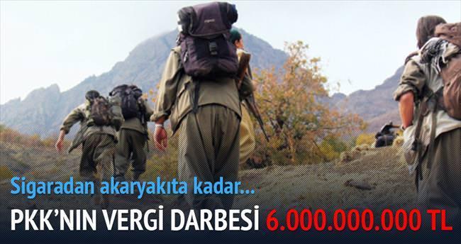 PKK'nın vergi darbesi 6.000.000.000 TL