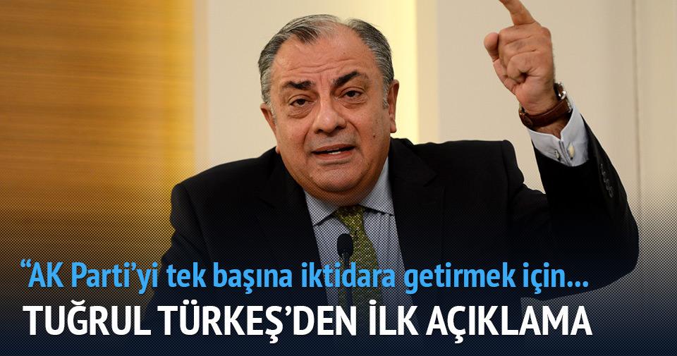 Tuğrul Türkeş: Ak Parti'yi tek başına iktidara getirmek için çalışacağız