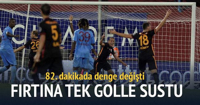 Trabzonspor tek gole boyun eğdi