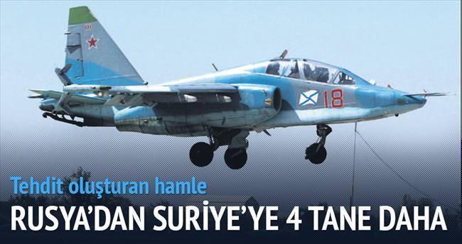 Rusya'dan Suriye'ye 4 jet daha