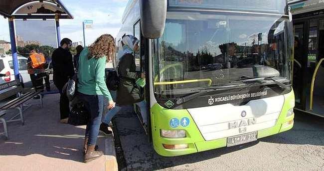 Kocaeli'de otobüsler 7 gün ücretsiz!