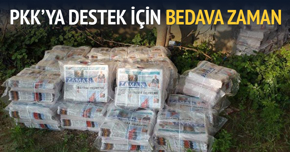 PKK'ya destek için bedava Zaman dağıtılıyor