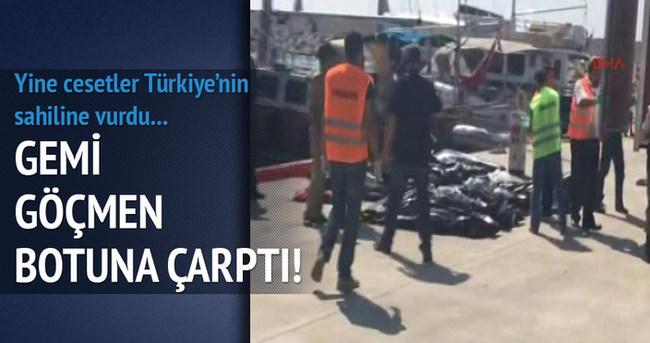 Kaçakların botuna yolcu gemisi çarptı!