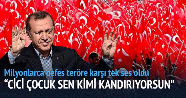 Cumhurbaşkanı Erdoğan: Cici  çocuk sen kimi kandırıyorsun