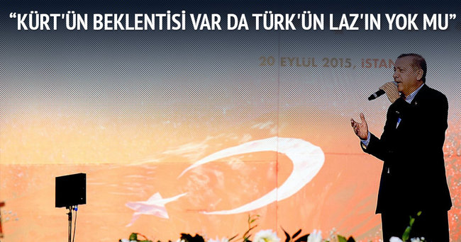Cumhurbaşkanı Erdoğan: Türkiye'de Kürt sorunu yok