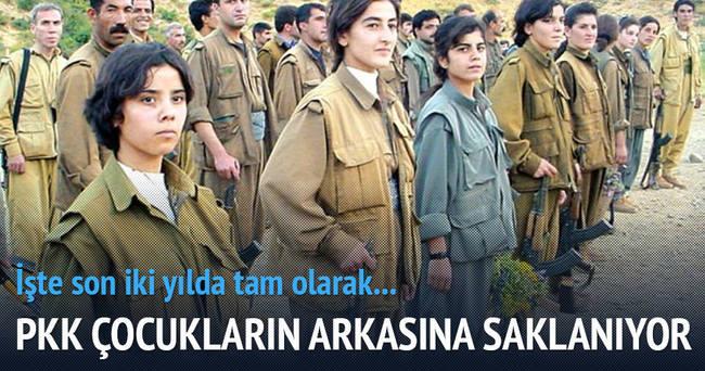 PKK çocukların arkasına saklanıyor