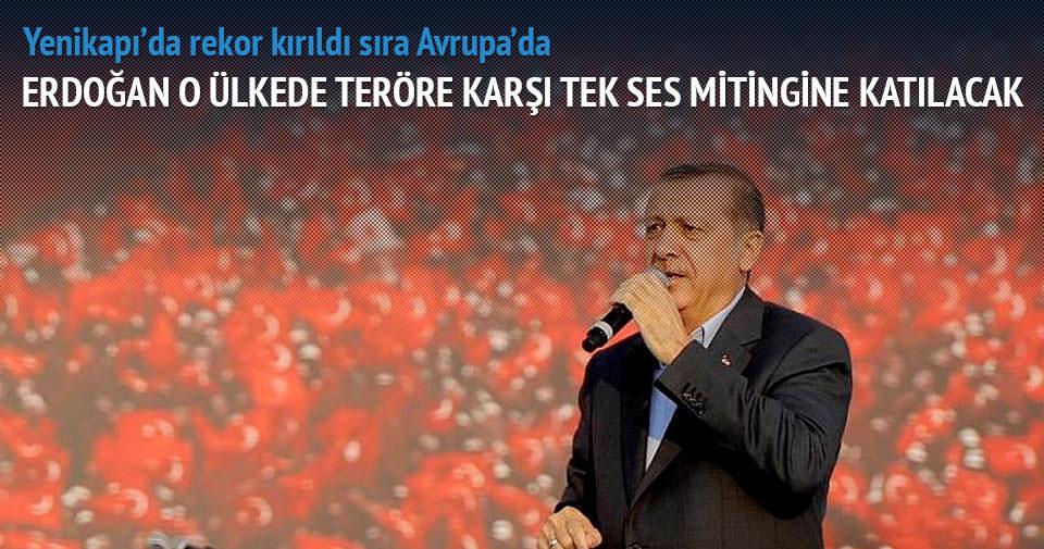 Cumhurbaşkanı Erdoğan 4 Ekim'de Teröre Karşı Tek Ses mitingine katılacak