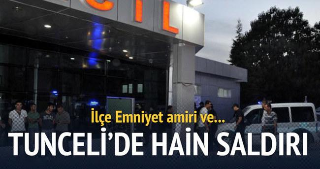 Tunceli'de PKK'lılar emniyet amirinin aracını taradı!