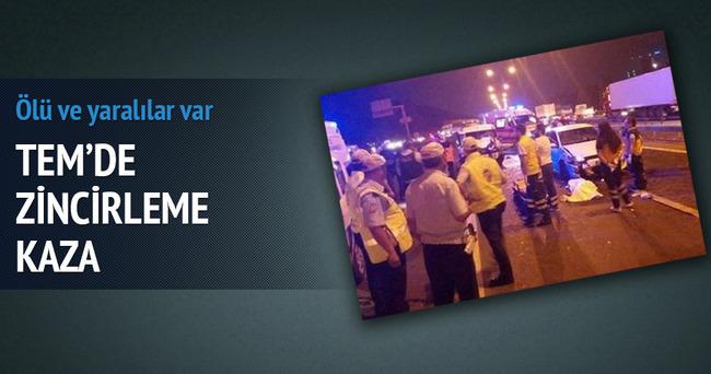 TEM'de zincirleme kaza: 1 ölü, 5 yaralı