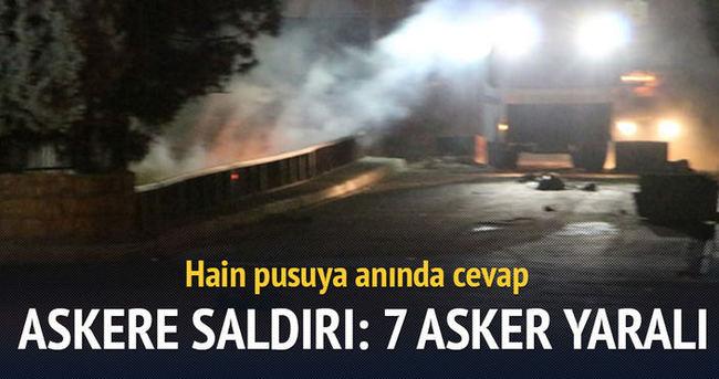 Askeri araca bombalı saldırı: 7 asker yaralı