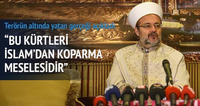 Sadece terör değil, Kürtler'i İslam'dan koparma meselesi