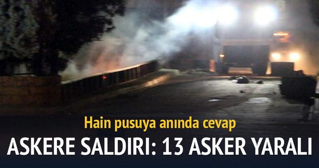 Askeri araca bombalı saldırı: 13 asker yaralı