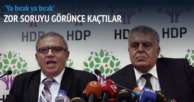 HDP'liler o soruyu duyunca masadan kalktı