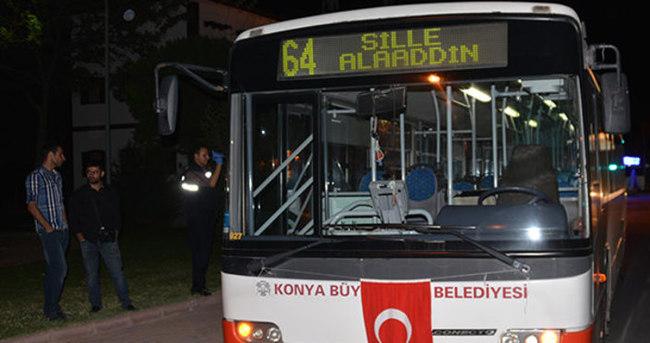 Belediye otobüsüne silahlı saldırı
