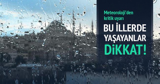 Meteoroloji uyardı! İstanbul ve İzmir'de yoğun yağış bekleniyor