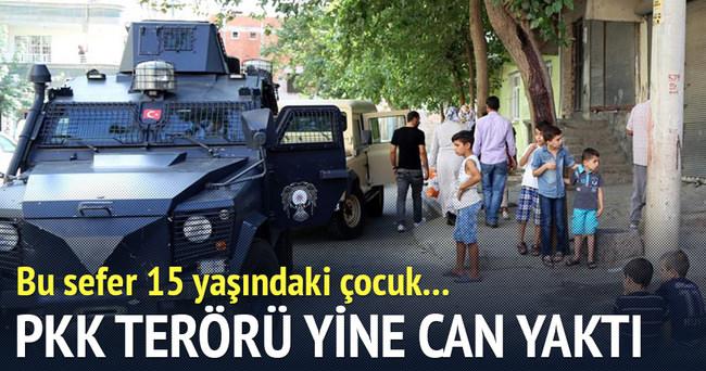 Diyarbakır'da teröristlerin attığı patlayıcı alışveriş için evden çıkan çocuğu yaraladı
